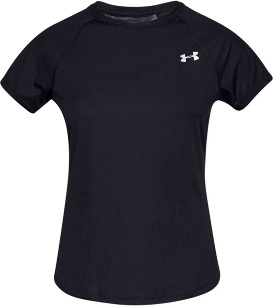 Under Armour Speed Stride Short Sleeve Dames Hardloopshirt - Zwart - Maat L