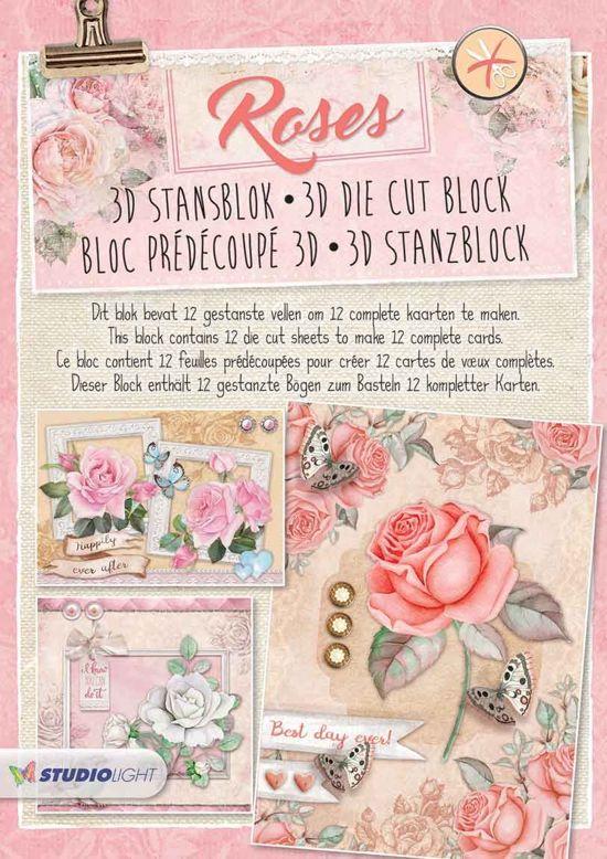 Roses - 3D Stansblok - StansBlokRO41