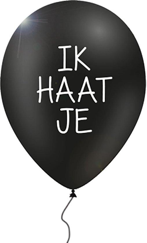 12 verwensballonnen in cadeauverpakking:  'Ik haat je'