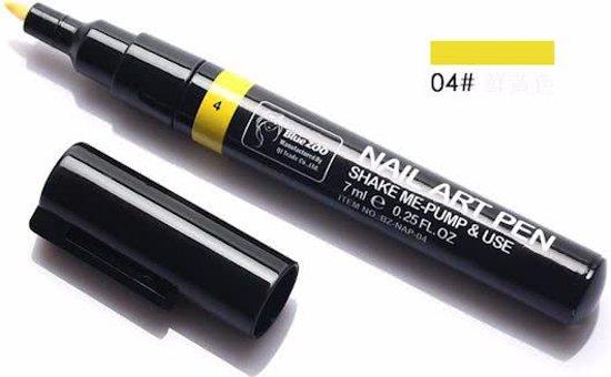 UV Gel Nagellakpen: no.4 Geel