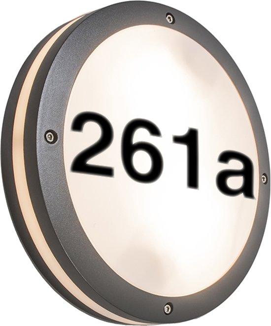 qazqa storm r huisnummer verlichting 2 lichts 30 cm antraciet