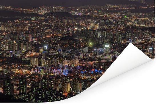 Cityscape van het Zuid-Koreaanse Daejeon Poster 120x80 cm - Foto print op Poster (wanddecoratie woonkamer / slaapkamer) / Aziatische steden Poster