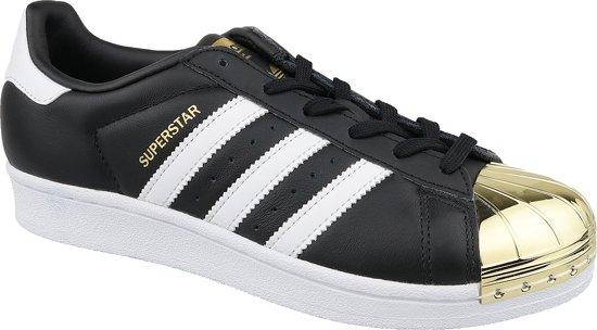adidas Superstar W Metal Toe BB5115, Vrouwen, Zwart, Sneakers maat: 37 13 EU