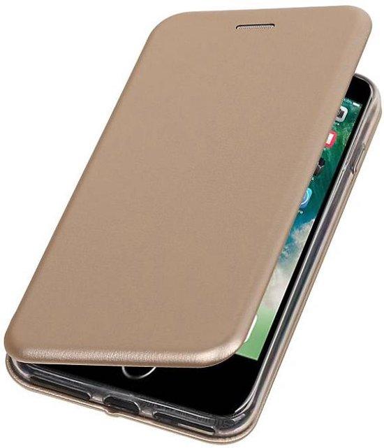 Mobieletelefoonhoesje.nl - Apple iPhone 7 Plus / 8 Plus Hoesje Slim Folio Case Goud in Zegelsem