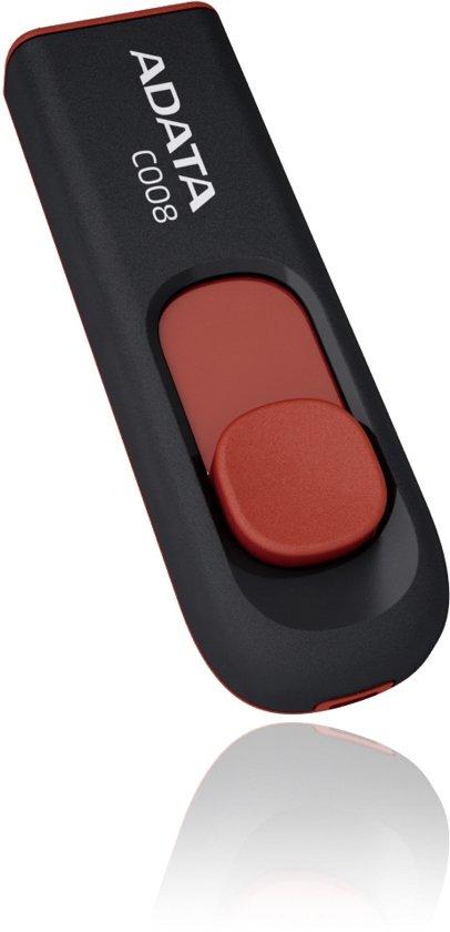 ADATA Classic USB 2.0 C008 - USB-stick - 8 GB Zwart