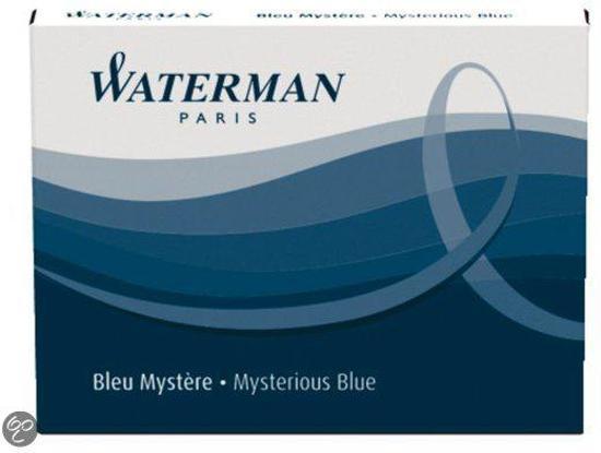 Waterman Inktpatronen Mysterious Blue 1x8 inktpatronen