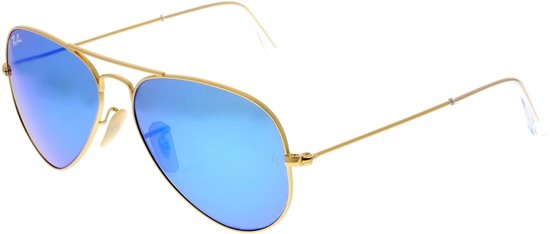 Ray-Ban RB3025 112/17 - Aviator (Flash) - zonnebril - Goud / Blauw Flash - 58mm