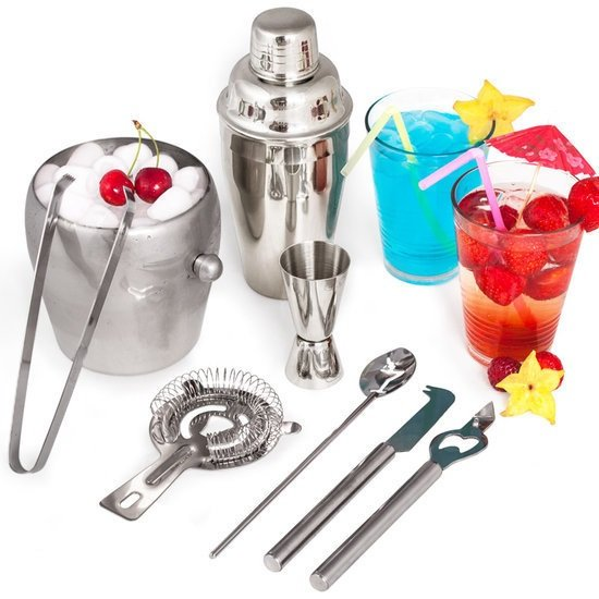 Cocktailset cocktailshaker set bar shakers RVS 400841