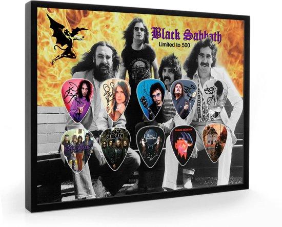 Plectrumdisplay Black Sabbath ingelijst