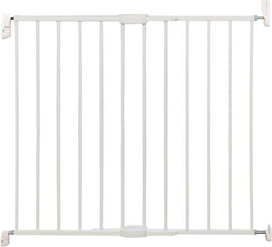 bol | lindam - uitschuifbaar metalen veiligheidshek - wit