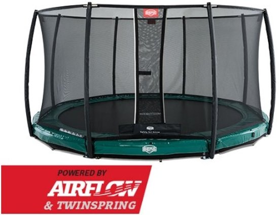 BERG Elite InGround Trampoline à 330 cm met Veiligheidsnet Deluxe