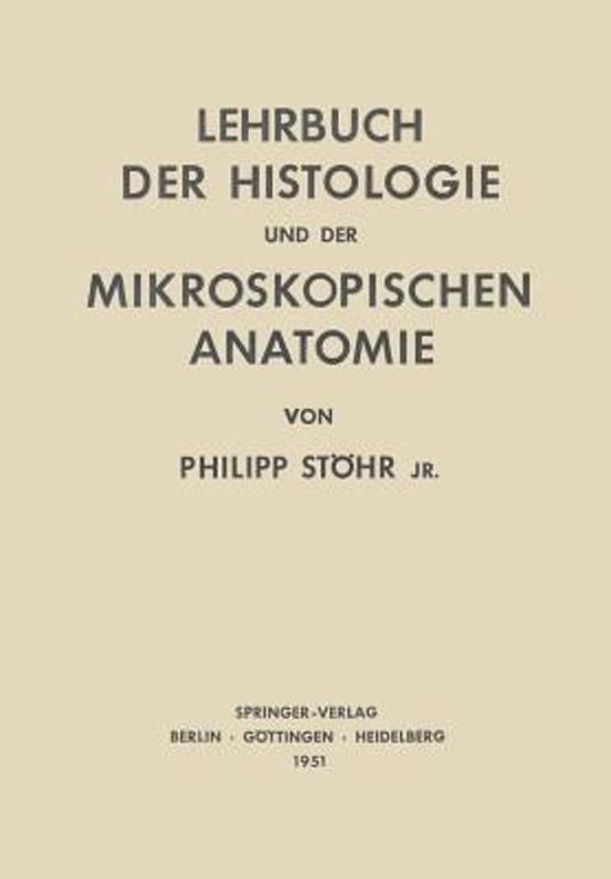 bol.com | Lehrbuch Der Histologie Und Der Mikroskopischen Anatomie ...