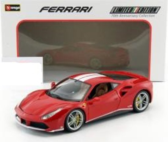 "Ferrari 488 GTB ""The Schumacher"" 70th Anniversary Collection Rood 1:18 Burago"