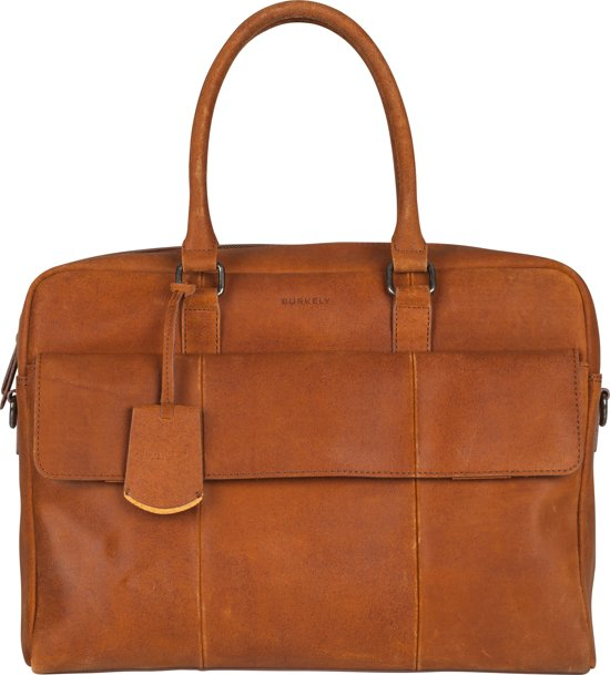 BURKELY On The Move Laptoptas - 15,6 inch - Cognac