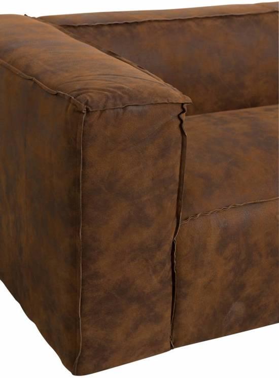 Duverger Cloudy lounge - Sofa - 3-zit - leder - bruin -gewolkt