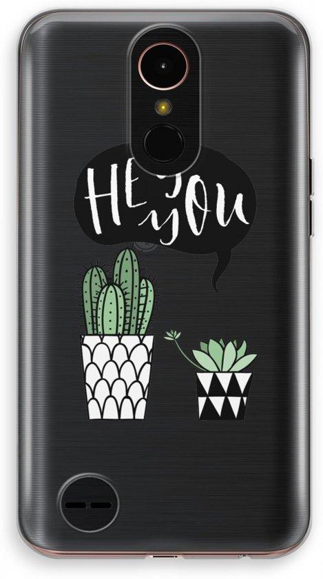 LG K10 (2017) Transparant Hoesje (Soft) - Hey you cactus