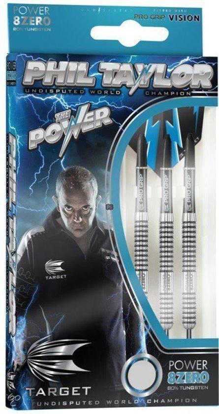 Phil Taylor Power 8Zero 23Gr - Target 80% tungsten dartpijlen