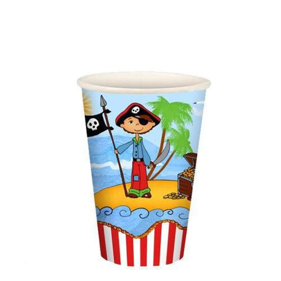Papstar Pirate Island Drinkbekers - 0.2 l - Karton - 10 stuks