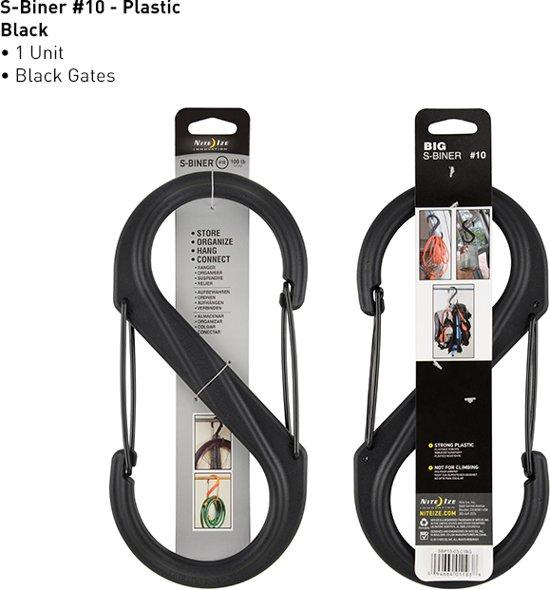 NITE IZE S-Biner 10 plastic - zwart - zwarte poorten