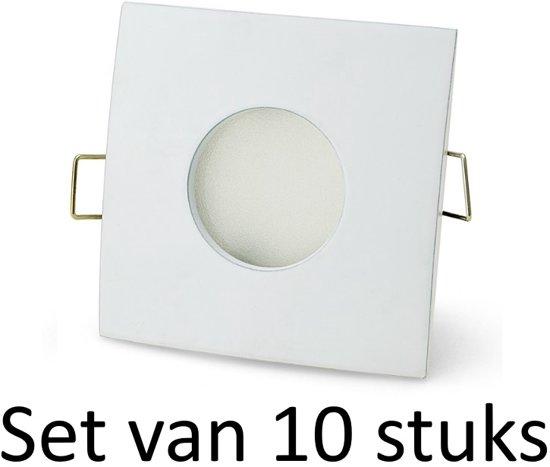 bol.com | Badkamer inbouwspots Wit vierkant | 3W warm wit | Set van ...