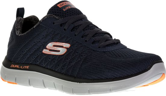 Skechers - 52185 - Sneaker laag gekleed - Heren - Maat 43 - Blauw;Blauwe - DKNV
