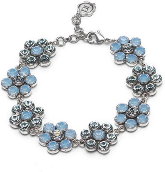 Dolce Luna Armband Flower blauw