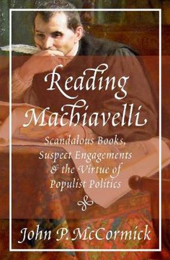 Boek cover Reading Machiavelli van John P. Mccormick (Hardcover)