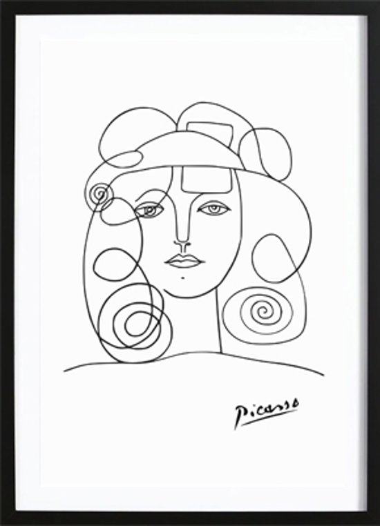 Bekend bol.com | Pablo Picasso Poster - Wallified - Zwart Wit - Poster &YQ37
