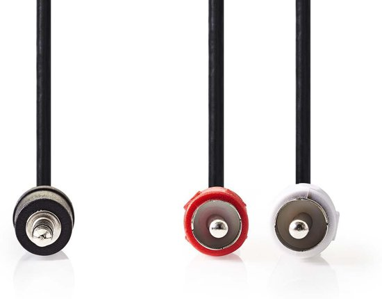 Nedis 3,5 mm naar RCA Kabel 5 Meter Zwart