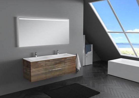 Bol.com badkamermeubel omega 140cm inclusief led spiegel matte