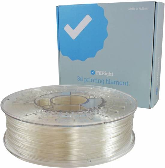 FilRight Engineering Nylon 2.85mm 3D Printer Filament 0,5kg Transparant