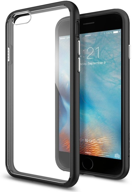 Spigen Ultra Hybrid Apple iPhone 6 Hoesje - Black