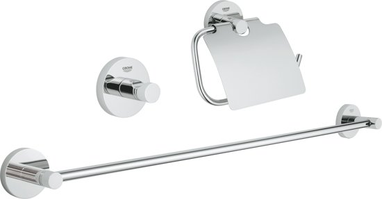 Bol.com grohe essentials badkamer accessoireset 3 in 1 chroom