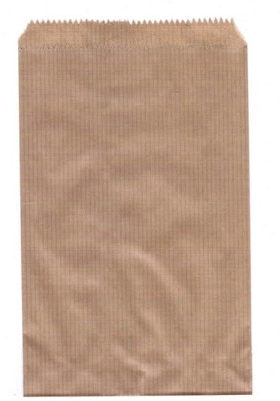 bol   papieren zakjes, 17½ x 26 cm, bruin, 50 stuks
