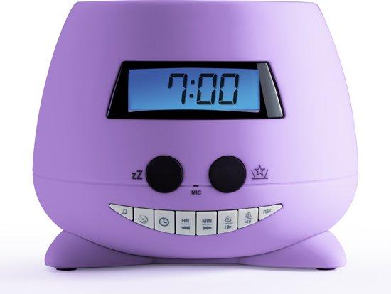 Kinderwekker Met Licht : Bol bigben wekker my violet met projectie paars