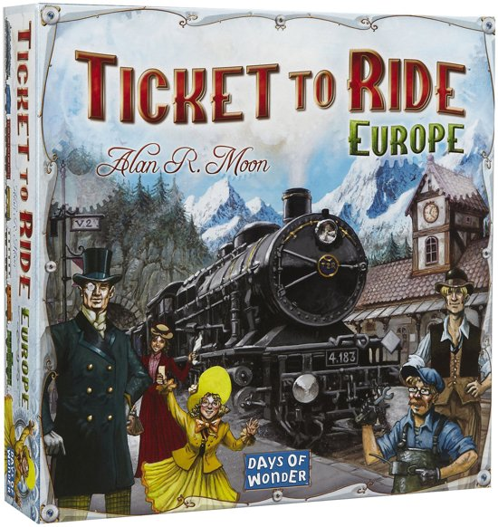 Afbeelding van Ticket to Ride Europe - Bordspel speelgoed