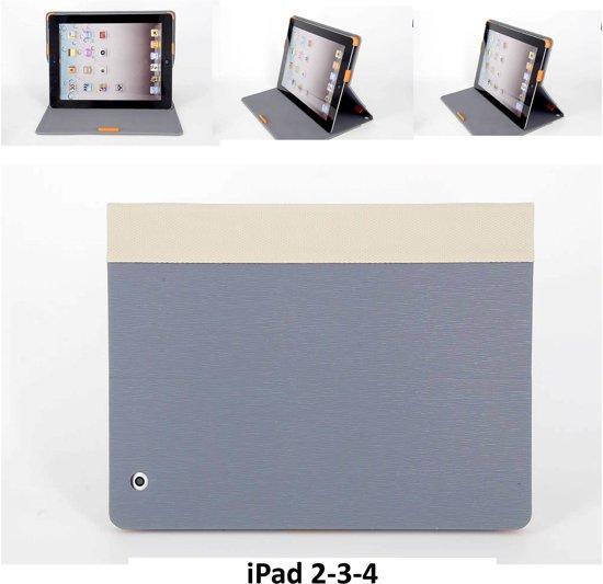 Apple iPad 2;Apple iPad 3;Apple iPad 4 Smart Tablethoes Grijs voor bescherming van tablet