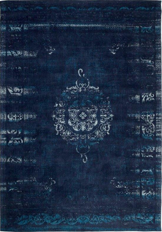 4b58e992a2594f Vintage vloerkleed Dae 160x240 - Donkerblauw Blauw