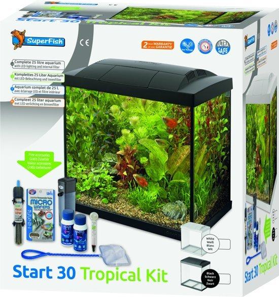 Beste bol.com | Superfish Aqua LED 30 Tropical Kit Aquarium Met Filter NB-87
