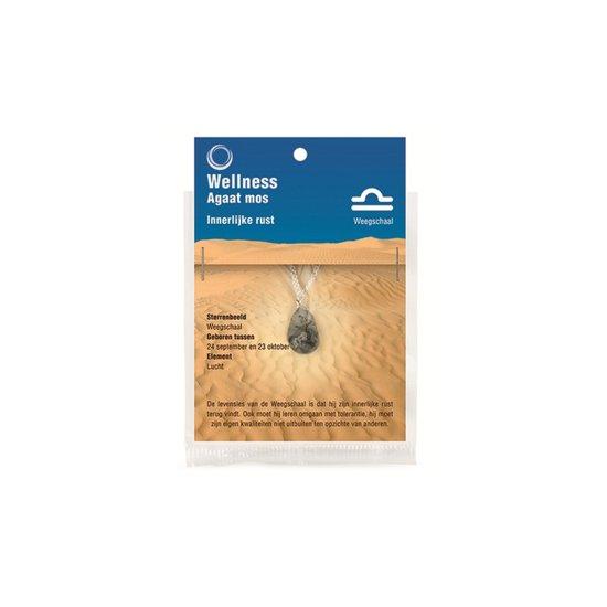 Edelsteen Hanger Sterrenbeeld Weegschaal - Agaat Mos