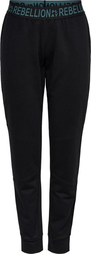 Only Play Aeries Loose Brush Sweat Pants Dames Joggingbroek - Black Shaded Spruce - Maat XS