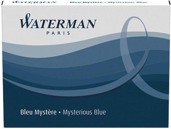Waterman Inktpatronen Blauw 1x8 lange inktpatronen