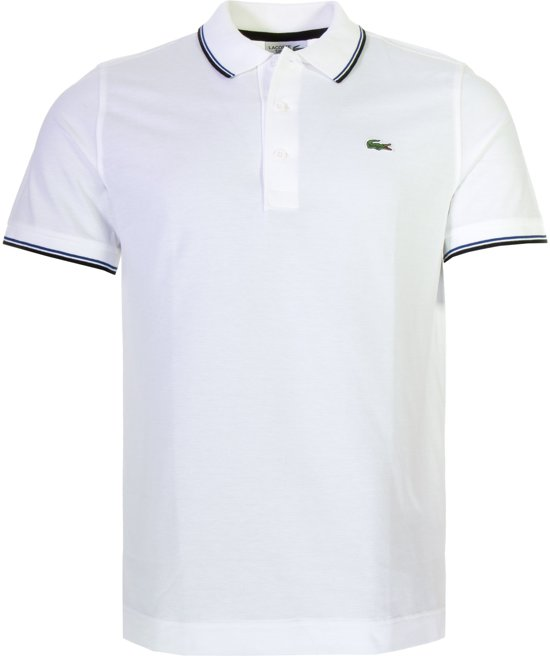 competitive price 8df4b 8f71f Lacoste Poloshirt - Maat XL - Mannen - wit/blauw