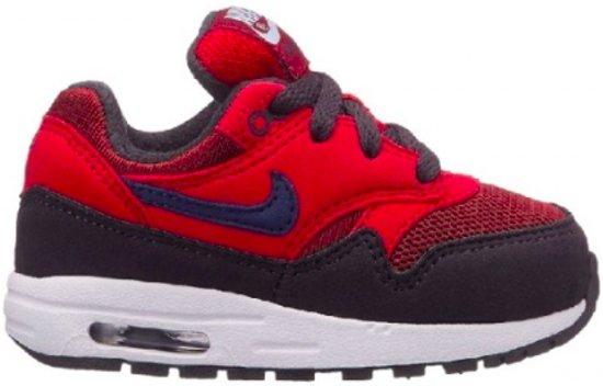 low priced ce42d 01a99 Nike Air Max 1 - Rood Zwart - Jongens maat 29.5