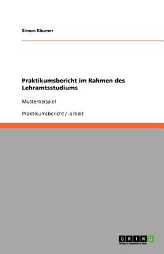 Praktikumsbericht Im Rahmen Des Lehramtsstudiums
