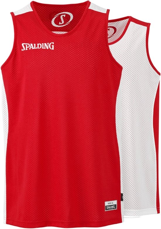 Spalding Essential Reversible Tank Top Black/White-XXL