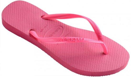 Havaianas Slim shocking pink slippers meisjes - Maat 35/36