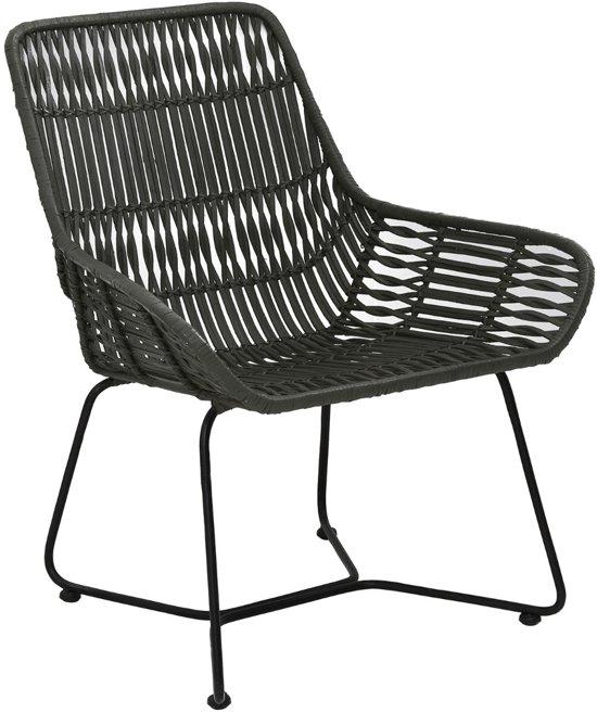 bol   light & living petung rotan - stoel - olijf groen