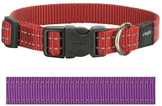 a4d3a3736be bol.com | Rogz For Dogs Snake Halsband - Paars - 16 mm x 26-40 cm