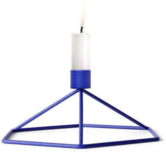 Menu POV Table kaarsenstandaard kobalt